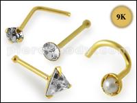 9K Gold Nose Studs