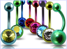 Anodized Belly Rings