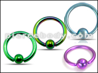 Anodized Captive Bead Rings