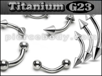 Titanium Curved Barbells