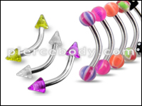 UV and Steel Curved Barbells