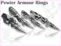Pewter Armor Rings
