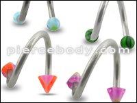 UV and Steel Twisted Barbells