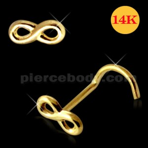 14K Gold Infinity Nose Screw