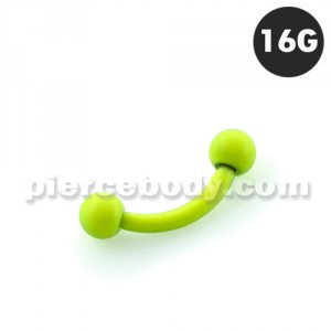 Neon Yellow 316L Surgical Steel Curved Barbells