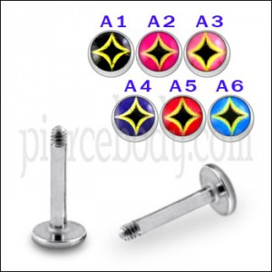 SS Labret with 4mm Logo Ball
