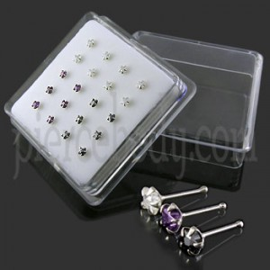 925 Silver Star CZ Jeweled Nose Stud