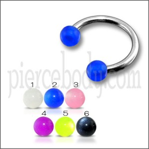 CBB 8mm to 12mm Rings with Blue UV Balls Body Jewelry
