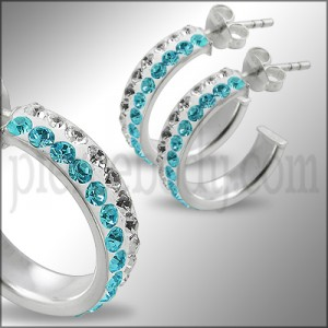 925 Sterling Silver  Crystal Earring