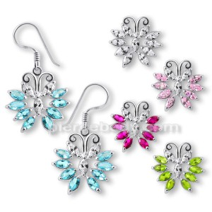 925 Sterling Silver Butterfly Earring