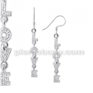 925 Sterling Silver LOVE Earring