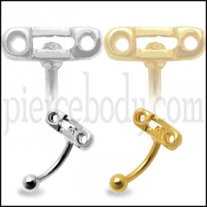 Safety Pin Eyebrow Bar