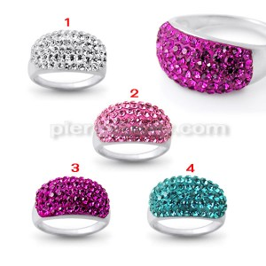 Fashion Vintage Dazzling Women Crystal Rhinestone Finger Ring