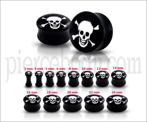 Laughing Skull Logo Ear Plug