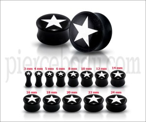 White Star Logo Ear Plug