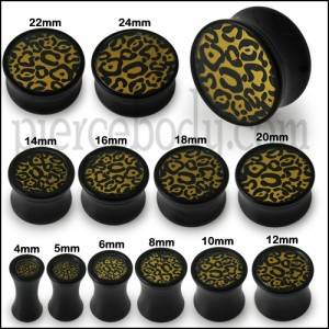Double Flared Cheetah Logo Ear Plug