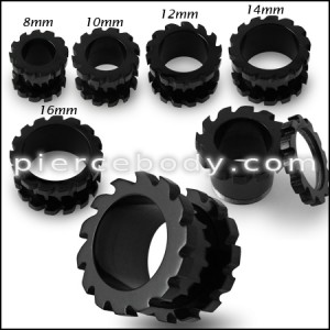 Anodized Saw Blade Screw Fit Flesh Tunnel