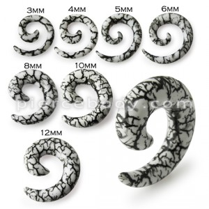 Snail Spiral Ear Expander Stretcher Plug Earrings