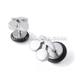 SS Cherry Fake Ear Plug