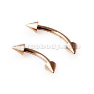 Rose Gold PVD Surgical steel Curved Barbells