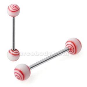 Tongue Barbell with Multi Round UV Balls