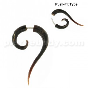 Organic Horn Classic Long Tail Spiral Fake Ear Plug