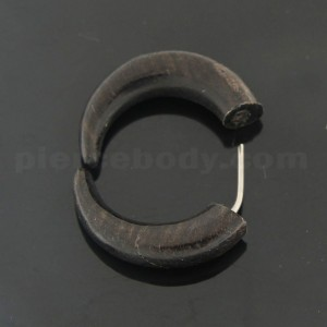 Organic Iron Wood 5 mm Horseshoe Fake Ear Plug