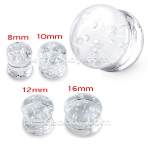 Pyrex Glass Bubbles Ear Plug