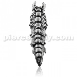 Full Finger Pewter Scorpion Armor Ring