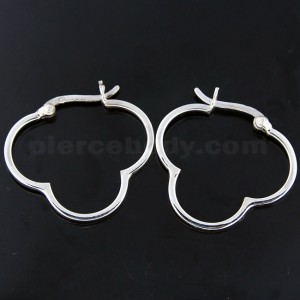 925 Sterling Silver Cloud Hoop Earring