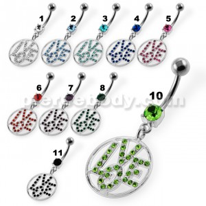 Jeweled Word LOVE Navel Belly Button Piercing