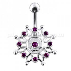 Charming Steel Rhinestone Crown Belly Barbell Navel Ring Body Piercing jewelry