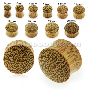 Organic Palm Wood Convex Saddle Ear Plug