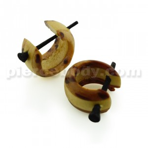 Multi Wood Organic Stick Earring