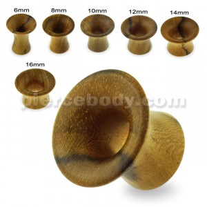Organic Teak Wood Single Flared Round Ear Plug Gauges