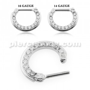 Wreath of Sparkle CZ's Septum Clicker Piercing