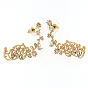 Fancy Butterfly Cuff with Micro Setting Stone Ear Stud