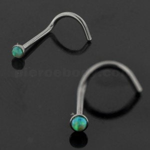 20G Surgical Steel Synthetic Opal Stone Nose Screw