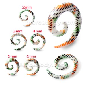 Colorful Stripes Pattern Spiral Expander