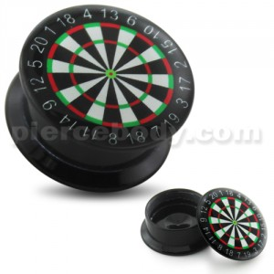 Dart Board UV Internal Screw Fit Ear Tunnel