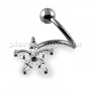 Crystalline Lily Flower Twister Barbell
