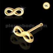 9K Gold Ball End Infinity Nose stud