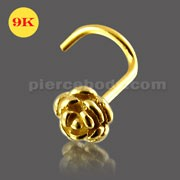 9K Gold Rose Nose Screw