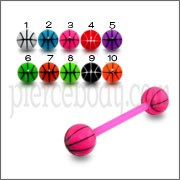 Mixed Color UV Barbell Ball Cap Stud Eyebrow Tongue Ring