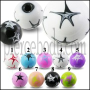 Colorful Star Hand Painted Marble Balls