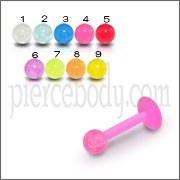 UV Labret 6 To 10mm With 3mm UV Fancy Balls