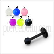 UV Labret With UV Plain Color Fancy Balls