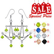Sterling Silver Fancy Dangling Costume Earring