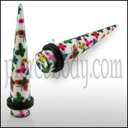 Colorful Buttefly Straight Ear Expander