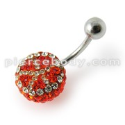 Red Crystal stone With SS body Jewelry Belly Ring